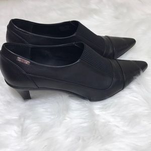 aec03443e1130 Calvin Klein Shoes - Calvin Klein Greta Black Leather Heels